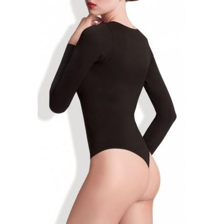 Seamless Long Sleeve Thong Bodysuit - BODY PERFECT