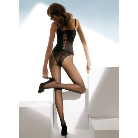 Sheer Tights with French Lace Panty - 15 denier - EMANUELLA 1