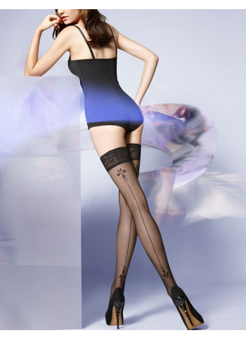 Sheer Thigh High Stockings with Back Seam - Lavinia 17
