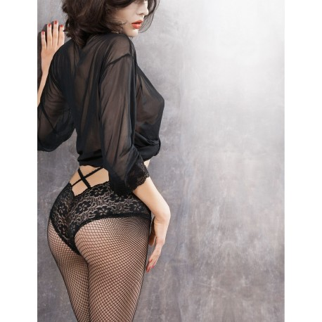 DIONE w.01 – fishnet tights with lace sewn-on panties