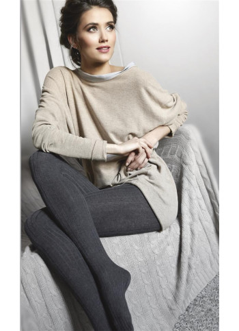Cotton Blend Sweater Tights - UP&GO! 15