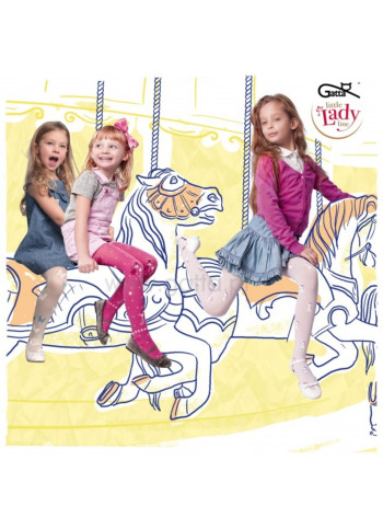 NIKA w.02 – girls' patterned tights