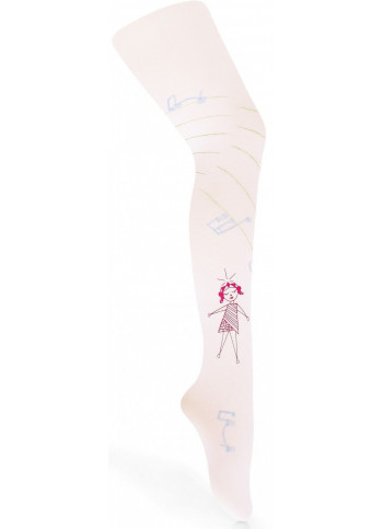MOLEKA w.03 – girls' patterned tights