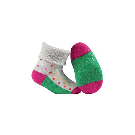 BABE w.00 – girls' terry socks with ABS soles 0-2 years