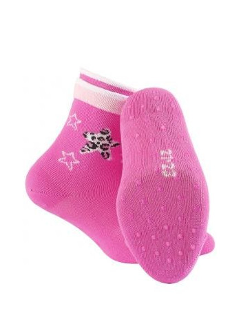 KIDDY ABS w.895 – girls' patterned cotton socks with ABS soles, 2-6 years