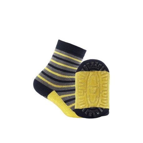 KIDDY ABS w.707 – boys' patterned cotton terry socks with ABS soles, 2-6 years