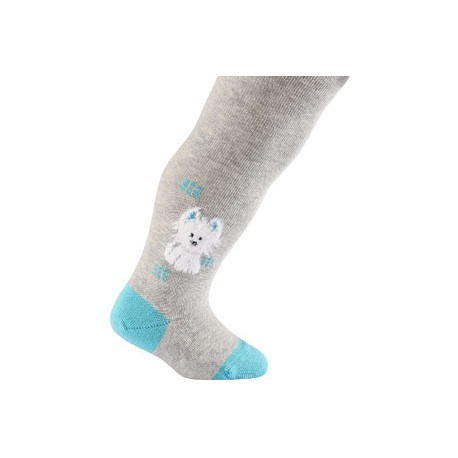 BABIES w.755 – girls' patterned cotton tights 0-2 years