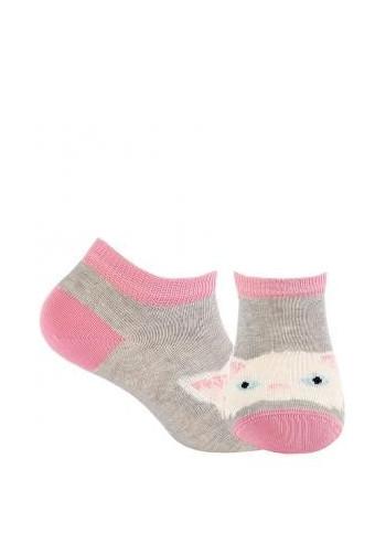KIDS w.807 – girls' patterned cotton short socks 2-6 years