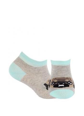 KIDS w.808 – girls' patterned cotton short socks 2-6 years