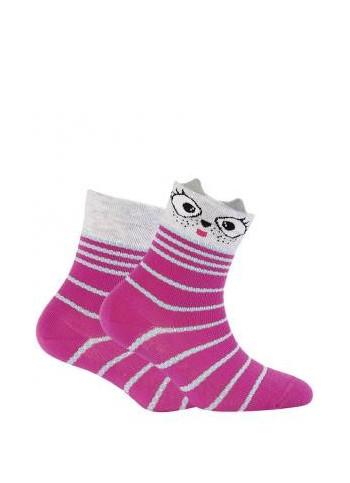 KIDS w.707 – girls' patterned cotton socks 2-6 years