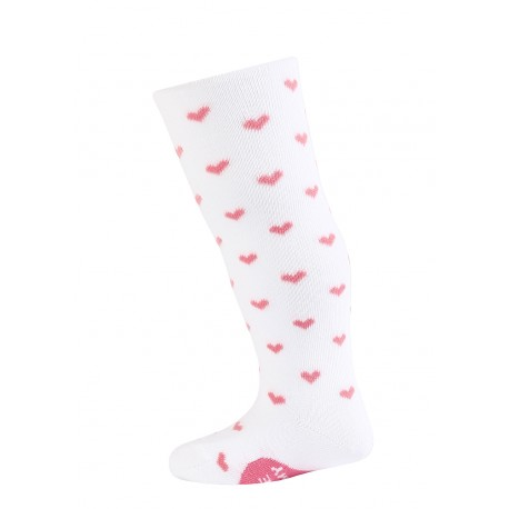 BABE w.621 – girls' printed cotton tights 0-2 years