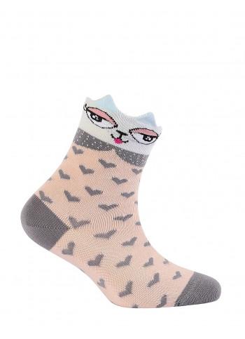 KIDS w.708 – girls' patterned cotton socks 2-6 years