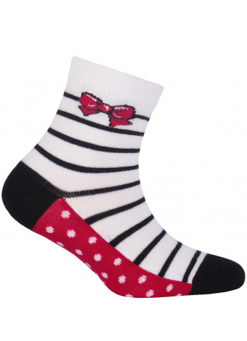 KIDS w.897 – girls' patterned cotton socks 2-6 years