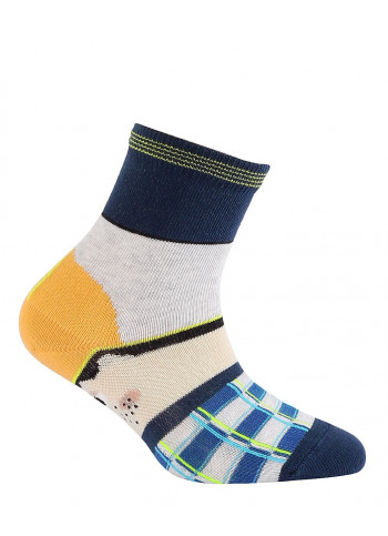 KIDS w.702 – boys' patterned cotton socks 2-6 years
