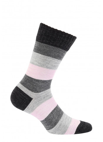 Striped Wool Crew Socks - style 997