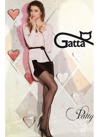 Sheer Black Tights with Heart Pattern - 20 den - PATTY 01 - FINAL SALE - NO RETURNS