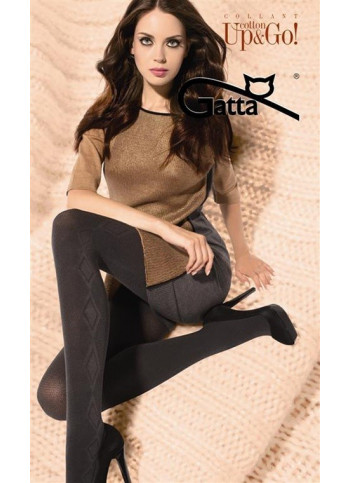 Cotton Blend Sweater Tights - UP&GO! 02