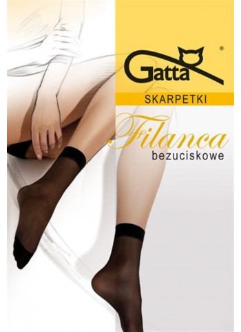 Sheer Elastyl Ankle Socks with Comfort Top - 20 denier - 2 pk FILANCA 00