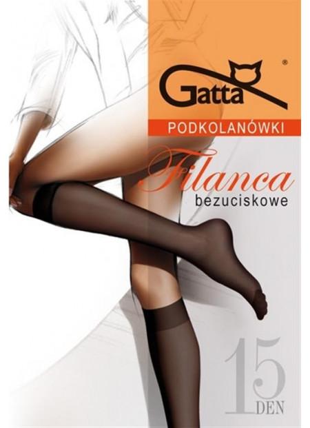 Sheer Elastyl Knee Socks with Comfort Top - 15 denier - 2 pk - FILANCA 00