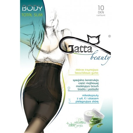 BODY TOTAL SLIM 10 w.00 - Women's shaping tights 10 DENIER