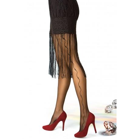 RONNA w.26 - women's pantyhose embellished with Lurex yarn