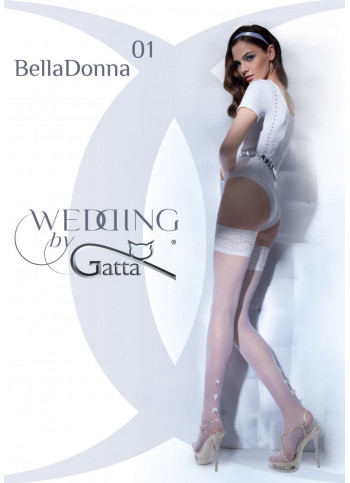 Sheer Thigh High Bridal Stockings - Belladonna 01- FINAL SALE - NO RETURNS