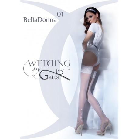 BELLADONNA w.01 - pończochy samonośne (Gatta Wedding)