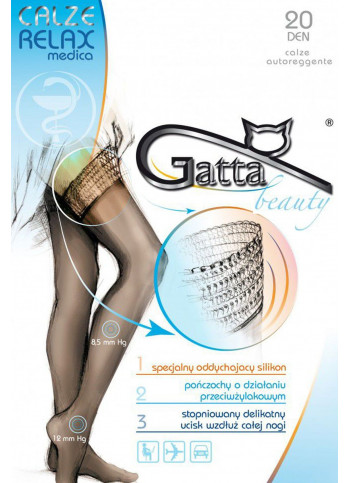 Sheer Black Stockings with Graduated Support (8.5-12mmHg) - CALZE RELAXMEDICA