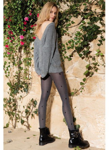 Cat Tights - Opaque Patterned Tights - 60 denier - COLETTE CAT 01