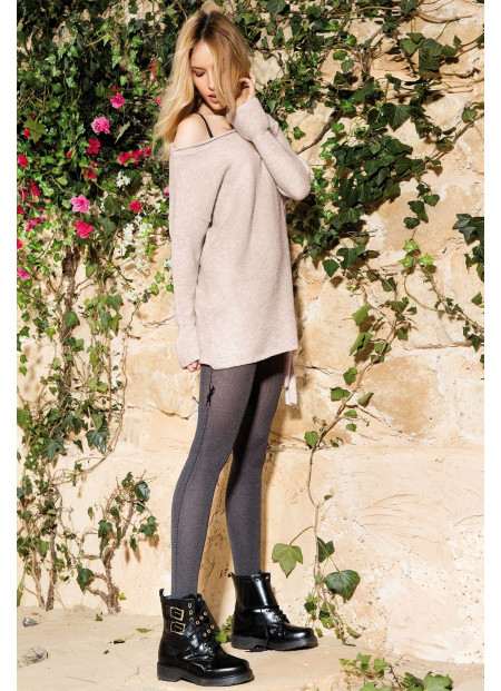 Cat Tights - Opaque Patterned Tights - 60 den - COLETTE CAT 03