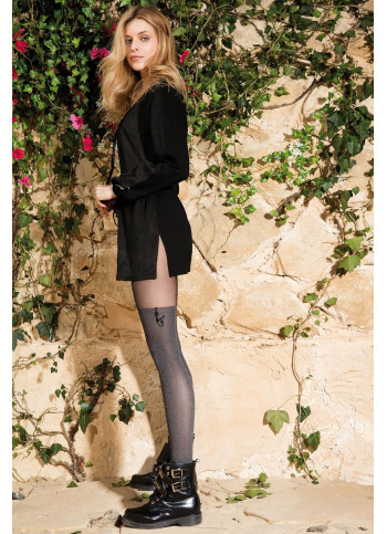 Cat Tights - Opaque Patterned Tights - 60 denier - COLETTE CAT 04