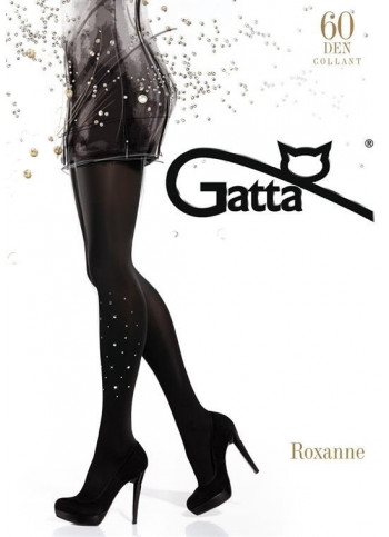 Opaque Tights with Glittery Details - 60 den - ROXANNE 09 - FINAL SALE - NO RETURNS
