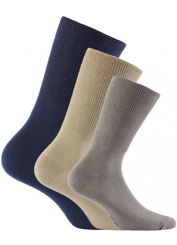 Cotton Blend Non-Binding Crew Socks - RELAX SOCKS