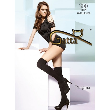 PARIGINA 300 – 300 denier plain over-the-knee socks
