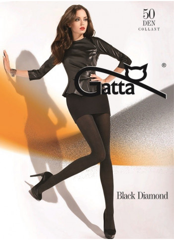 Opaque Black Tights with Shimmery Finish - 50 den - BLACK DIAMOND - FINAL SALE - NO RETURNS