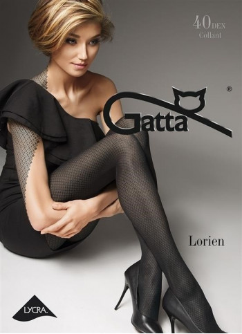 Opaque Patterned Tights - 40 den - LORIEN 01