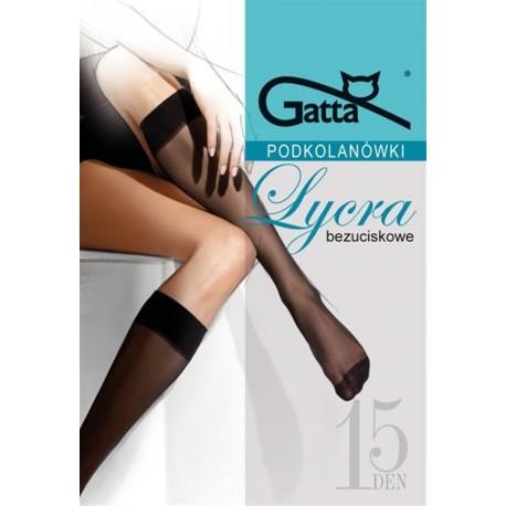Sheer Lycra Knee Socks with Comfort Top - 15 denier - 2 pack