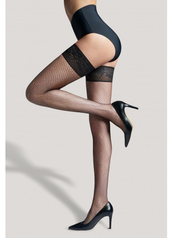 Fishnet Thigh High Stockings - MARGHERITA 01
