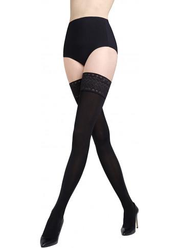 Opaque Thigh High Stockings - Floris 00