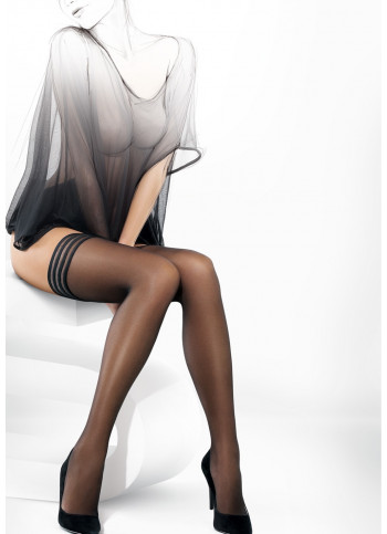 Sheer Thigh High Stockings with Lace Tops - Michelle 2
