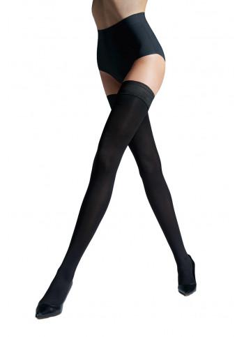 Opaque Thigh High Stockings - Gigi 04