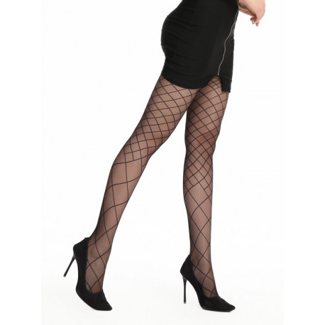 Sheer Black Patterned Tights - 20 den - FUNNY 04 - FINAL SALE - NO RETURNS