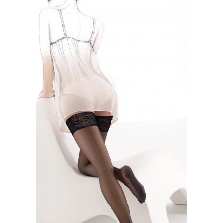Sheer Back Seam Stockings with Cuban Heel - Matilde 00
