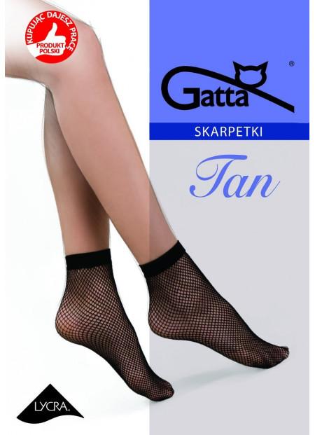 Fishnet Ankle Socks - TAN 01