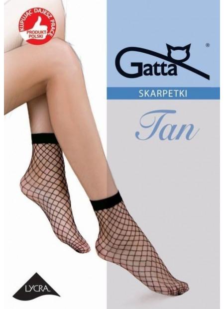 Fishnet Ankle Socks - TAN 02