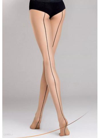 Sheer Nude Back Seam Tights - 20 den - Chiara 05